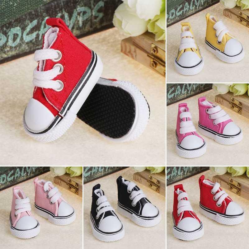 5 cm Puppe Schuhe Zubehör Leinwand Mode Sommer Spielzeug Mini Turnschuhe Denim Stiefel
