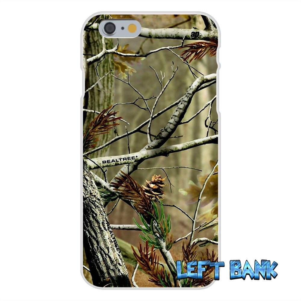 the best attitude b6665 ee05b US $0.99 |Realtree Camo Soft Silicone TPU Transparent Cover Case For iPhone  4 4S 5 5S 5C SE 6 6S 7 Plus-in Half-wrapped Case from Cellphones & ...