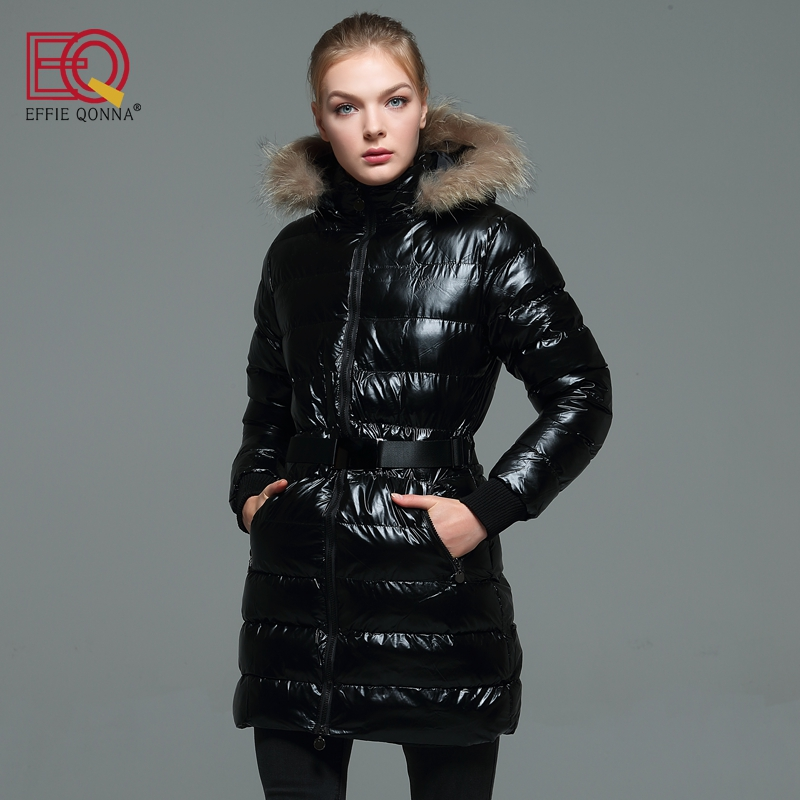 2018 New Fashion Winter Thick Faux Fur Stitched Hooded Cotton Padded Long Sleeve Women P ...