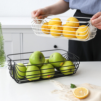 Nordic Simple Wrought Iron Fruit Basket Living Room Fruit Bowl Home Kitchen Creative Sundries Storage Basket