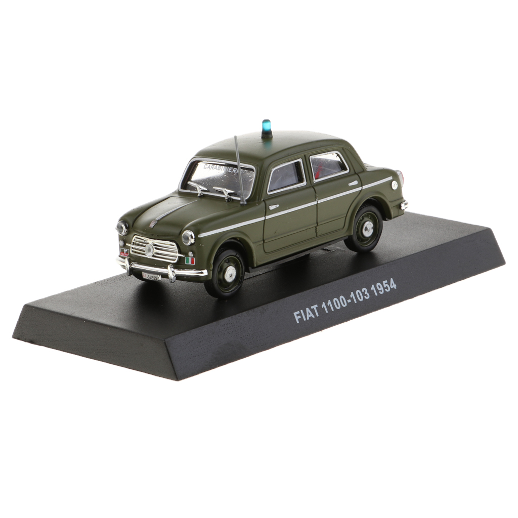 <font><b>1</b></font>/<font><b>43</b></font> <font><b>FIAT</b></font> 1000-103 1954 Carabinieri Diecast Police <font><b>Car</b></font> <font><b>Model</b></font> Collectible image