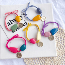 Super Shiny Colorful Stone Elastic Hair Bands  Korea Accessories Rubber Band Crystal Gum For Ties Scrunchies