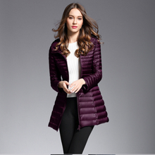 Navy/red/purple/black Winter Plus Size Womens long Down Jackets