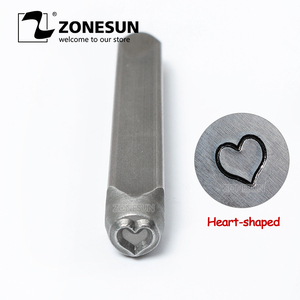 ZONESUN Heart Jewelry Stamping Metal Alphabet LOGO Steel Stamps Mold Marking Tool Punch Die For Gold Ring Bracelet Necklace|Food Processors| |  -