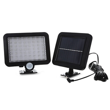 LED Solar Lamp Waterproof Light Human Body Induction Energy Charge Wall Security Outdoor Path Garden