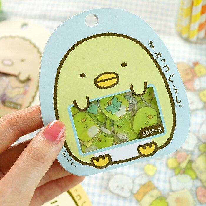 JIANWU 50pcs/ Cartoon Cute Decorative Stickers, Japanese DIY Stickers, Notebook Stickers Kawaii