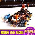 2016 НОВЫЙ лепин 14018 544 шт. Nexue Рыцари Общие Magmar's Siege Machine судьбы Строительные Блоки игрушки brinquedos