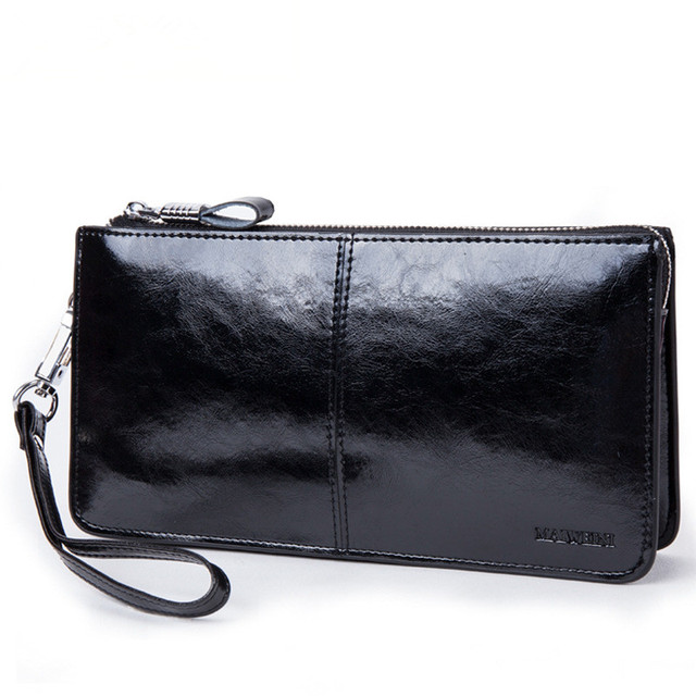 Long leather's  purse,for man and women,clutch bag,business casual  style,portfolio coins wallet