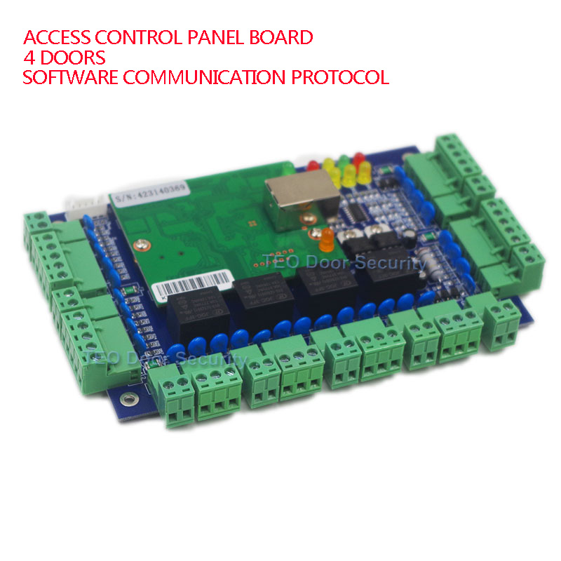 Four Doors Wiegand Reader Network Access Control Panel Board Software Communication Protocol TCP/IP