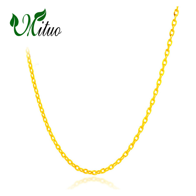 458c769f2fc89 MITUO Genuine 18K White Yellow Rose Gold Chain Cost Price Sale Pure 18K  Gold Necklace for love Best Gift For women