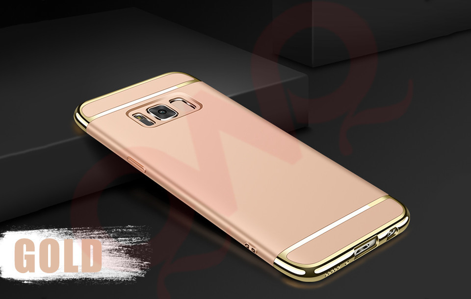Plating Samsung Galaxy A5 A7  Note 8 Hard Back Protective Cover For Galaxy S8 Plus S7 Edge Armor Shell Capa