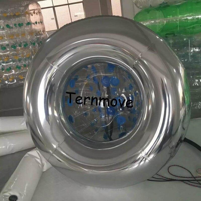 Tube de miroir en argent gonflable pour décoration anneau de bain brillant tube adulte Tube de cercle piscine géant gonflable anneau en pvc jouets de piscine