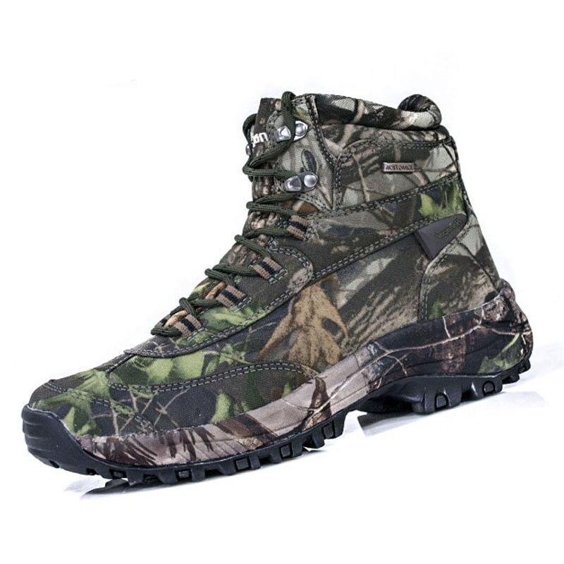 Grande taille 40-47 chaussures de randonnée en plein air hommes militaire tactique Camouflage cheville chaussures chasse pêche bottes voyage baskets