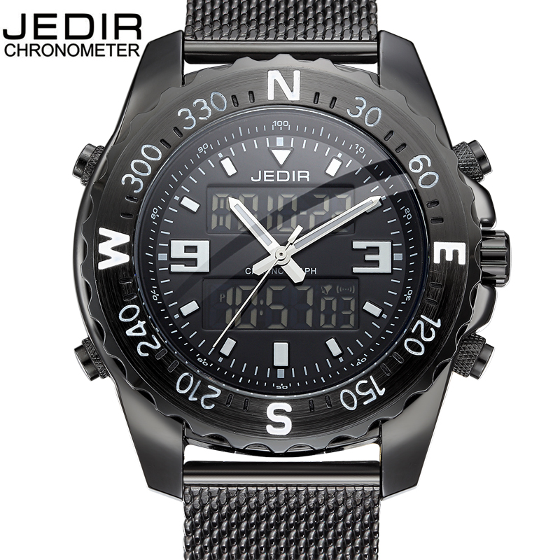цена на 2018 Men's Fashion Sport Watches Men Quartz Analog Date Clock Man Stainless Steel Military Waterproof Watch Relogio Masculino
