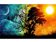 5D DIY Diamond Painting Full Drill Square Sky Natural Scenery Mosaic Picture Rhinestones Gift Home Wall Decor