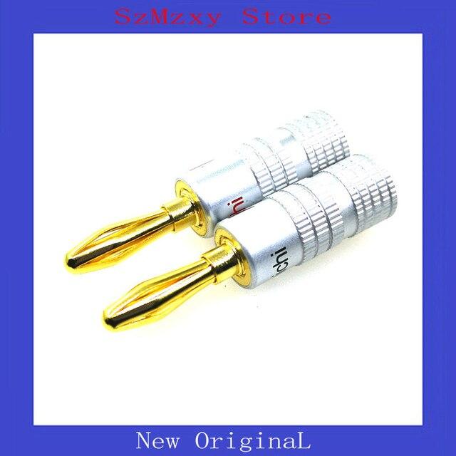 4 زوج = 8 قطعة مطلية بالذهب الصوت ناكاميتشي رئيس الموز سدادة للموصلات