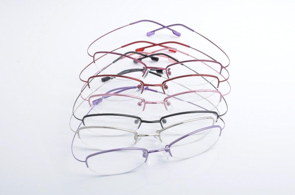 DEDING Frauen halbrandlose brillen Edelstahl brillen rahmen draht ...