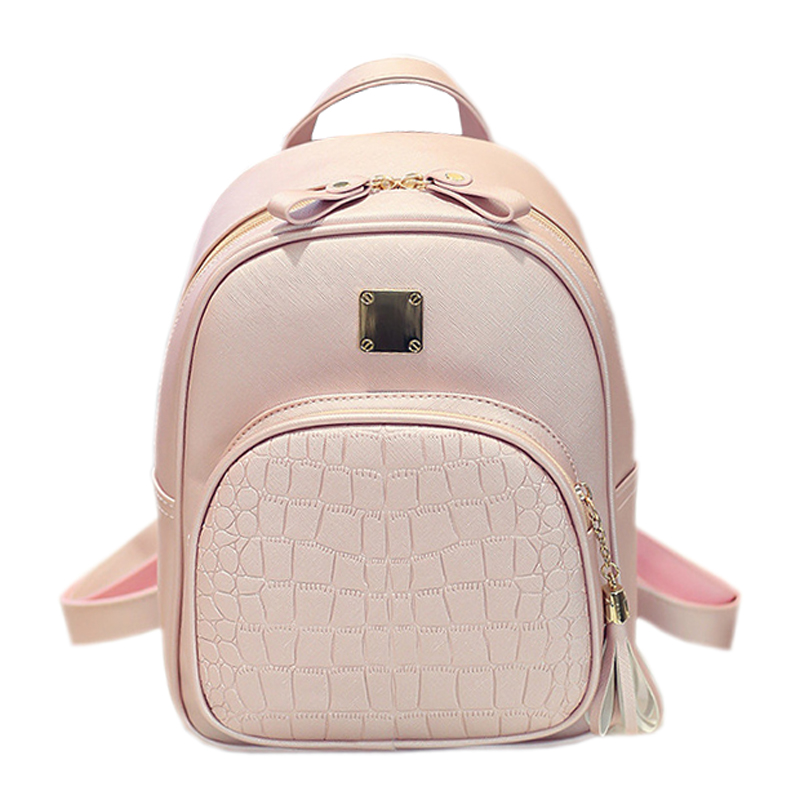 Alligator Pattern Girl School Bags For Teenagers Women Small Backpack Black Leather Women s Backpacks Fashion
