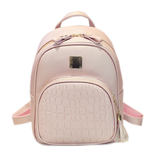 Alligator Pattern Girl School Bags For Teenagers