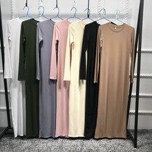2018 Абаи мусульманское платье с длинным рукавом Дизайн Дубае платье Кафтан Мода Абаи Исламской мусульманское платье Ближний Восток Костюмы
