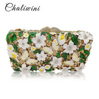 Custom Colorful Butterfly Floral Women Metallic Wallet Clutch Bags / Purses Nigerian Wedding Shoes matching Evening Clutch Bags