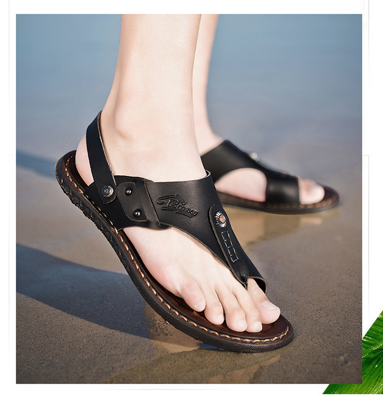 2019 New Men Shoes Large Sizes Summer Shoes Fashion Men's Slippers Male Sandals Comfortable Mans Footwear Beach Men's Flip Flops(China)