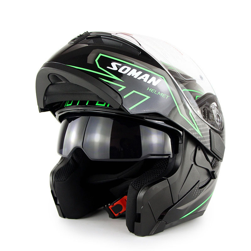 Double Lens Flip up Moto Helmet Motorcycle Full Face Retro Scooter Helmets Motorbike Riding Racing Helmet Men's Motocross Helmet red green lines double lens motorcycle crash helmet high quality flip up electric motorbike full face motorcycle helmet