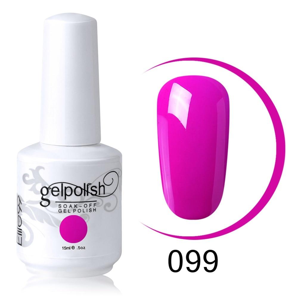 Elite99 15ml Magenta Color Series Nail Art Gel Polish Soak Off Long Lasting UV Gel Nail Polish Nail Lacquer For DIY Manicure 5