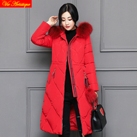 parka women winter coat and jacket miegoface skinnwille dames jassen lady warm coat long fur collar pink red army white black