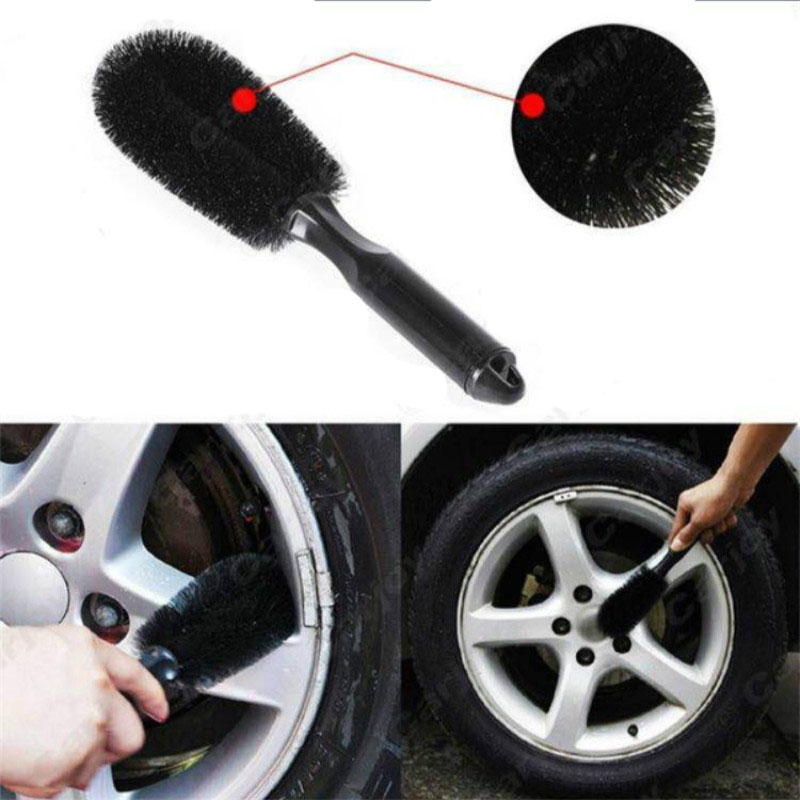 Car Wash Brush Multipurpose Wheel Tire Rim Scrub Brush Plastic Cleaning Tool Car Truck Washing 1pcs Auto Accessories