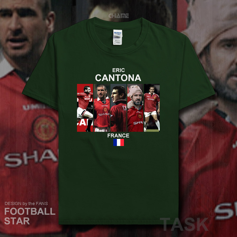 low priced 4b0e9 e9c30 US $5.99 |Eric Cantona t shirt 2018 jerseys France The king footballer  tshirt 100% cotton fitness The fans t shirt clothes casual tees 20-in  T-Shirts ...