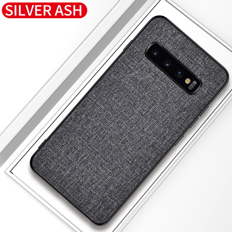 Luxury Slim Soft Fabric Cloth Back Skin Cover Coque For Samsung Galaxy S10 16