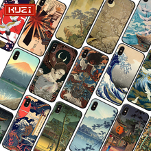 KUZI Retro Style Painting  Luxury Iphone Case Covers for IPhone X XS 8 7 6 6s Plus Coque TPU Silicone Phone