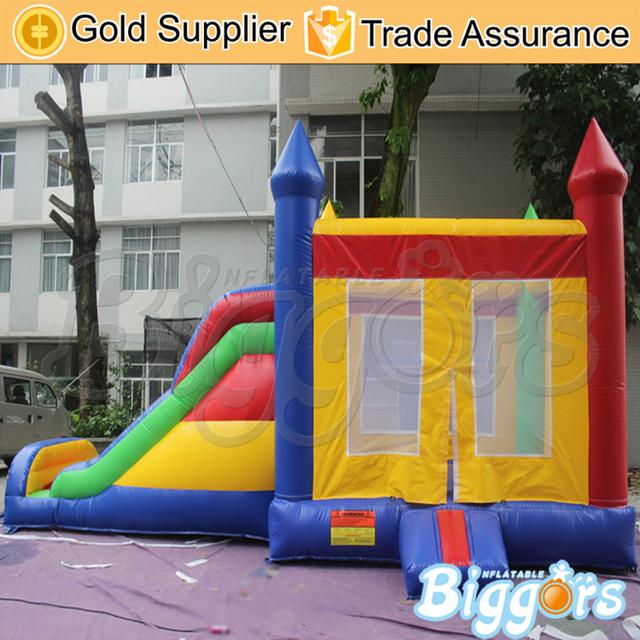 Inflável Biggors Comercial PVC Casa do Salto com Slide Grande Inflável Recreação Ao Ar Livre