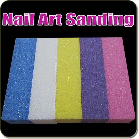 50 шт цветной дизайн ногтей Уход Блок-шлифовщик sanding Block Shiner, файлы акриловый инструмент оптом