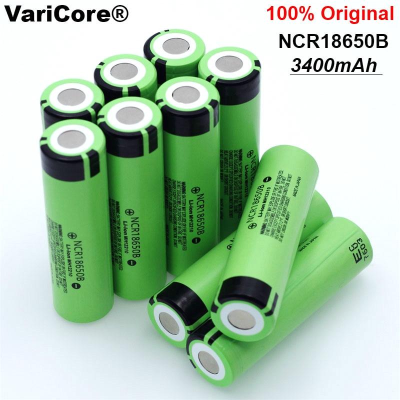 12 pcs/lot New Original 18650 NCR18650B 3400mAh Rechargeable Li-ion battery 3.7V For Panasonic Flashlight +Free shipping genuine new panasonic ncr18650bf 3 7v 3400mah rechargeable li ion battery red 4 pcs