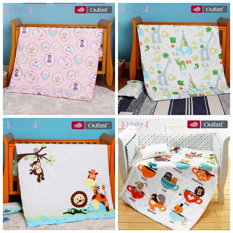 i-baby Baby Bedding Set 4pcs Crib Set Baby Duvet Cover Newborn 100% Cotton Printed Sheets Pillow Cot Sets in Crib