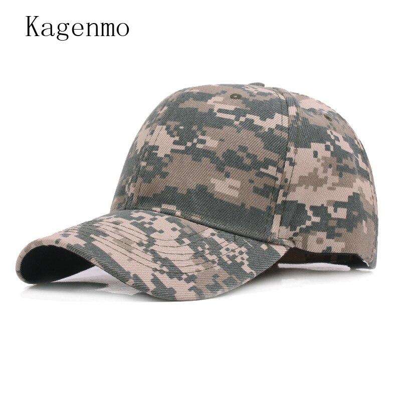 Kagenmo camuflaje hombre mujer verano moda gorra de béisbol sombrero del  ejército Jungle Cap algodón fino ajustable unisex en Gorras de béisbol de  Deportes ... c5df3d6a983