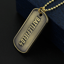 2 Colors Hot Game Battlefield 4 Dog Tag Military card Necklace