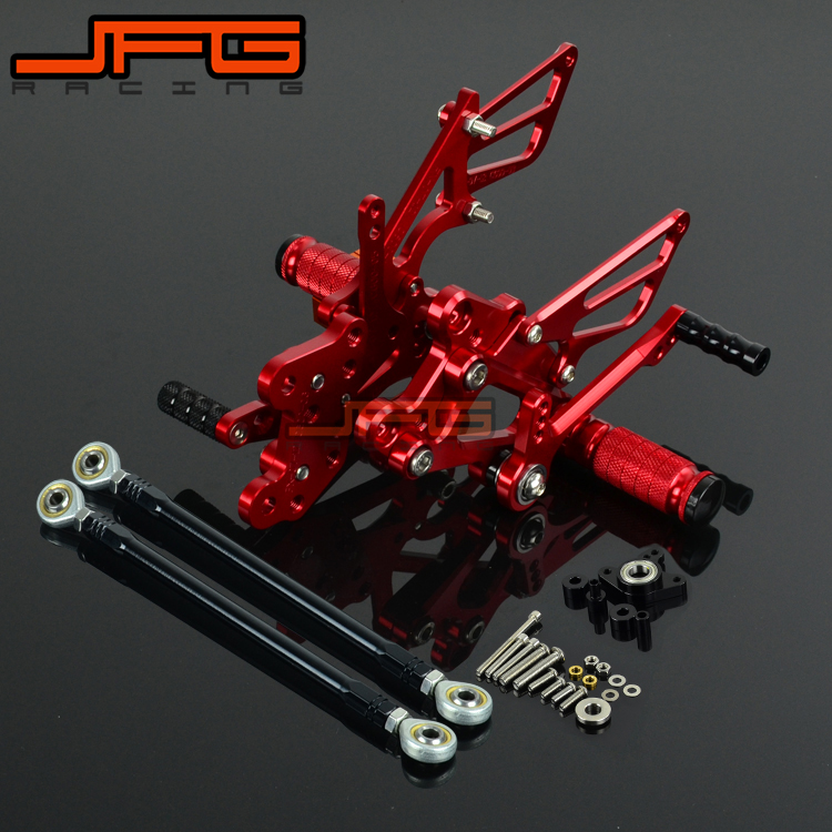 Motorcycle CNC Adjustable Foot Pegs Pedals Rest Rearset Footpegs For HONDA CBR1000RR CBR 1000 RR 2004-2007 2004 2005 2006 2007 motorcycle adjustable rider rear sets rearset fold foot rest pegs for honda cbr1000rr cbr 1000 rr 2004 2005 2006 2007