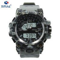XINJIA Top brand luxury mens casual electronic watches resin new fashion Backlit night vision watch 50m waterproof young male