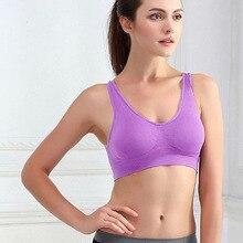 Wireless Women Girls Seamless Yoga Fitness Sports Bra Padded Bra Tops Underwear