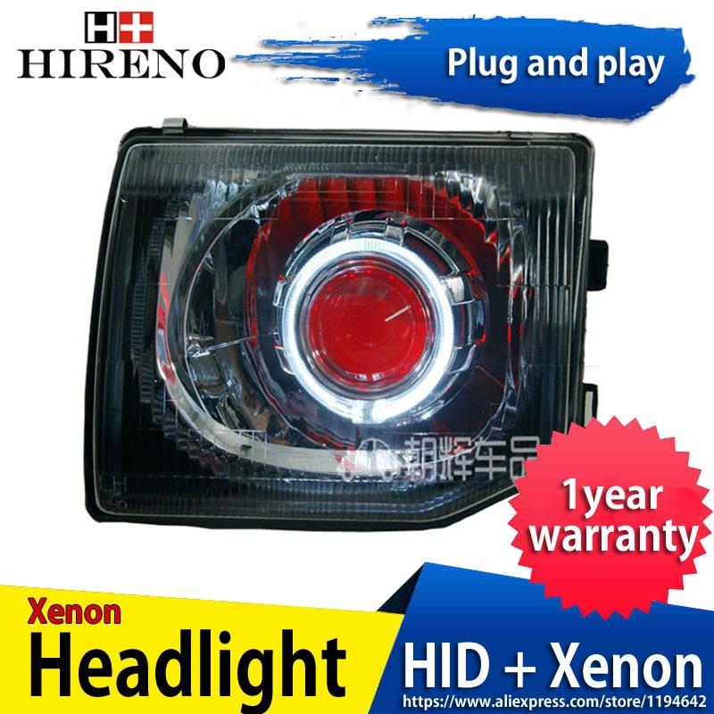 Car Custom Modified Xenon Headlamp For Mitsubishi Pajero V31 V32 V33  Headlights Assembly Car Styling Angel Lens HID 2pcs