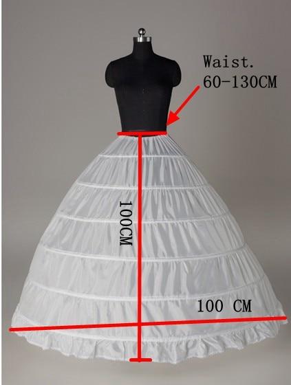 Anagua 2018 Wedding Dress Slip Wedding Dress 6 Wire Pannier Plus