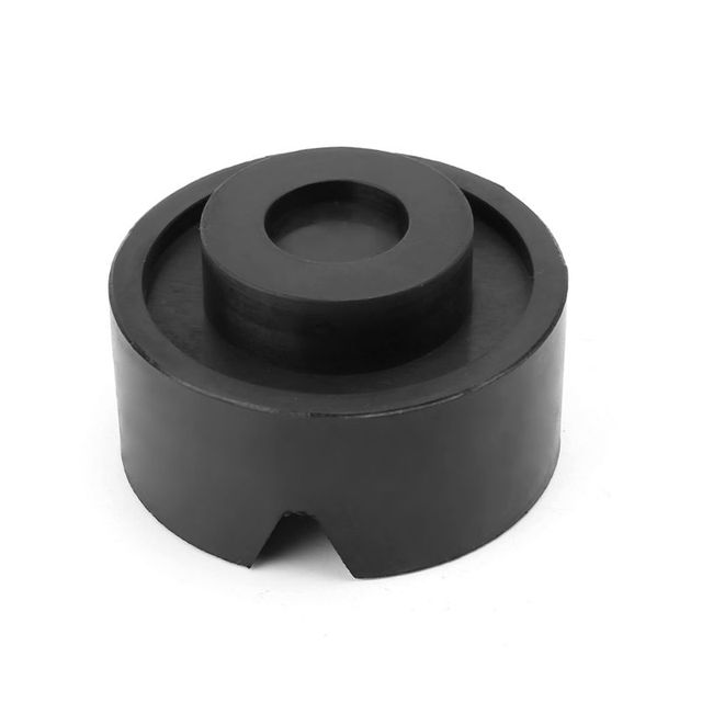 Almohadilla de goma para gato de coche con ranura en V, Protector de riel antideslizante, bloque de soporte de alta resistencia para montacoches, color negro