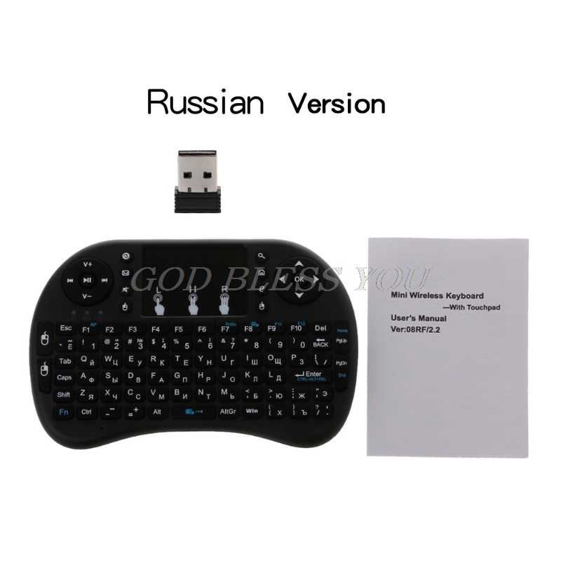 Russisch/Frans/Arabisch/Spaans I8 2.4 Ghz Wireless Keyboard Air Mouse Touchpad Voor Android Tv Box Pc drop Shipping