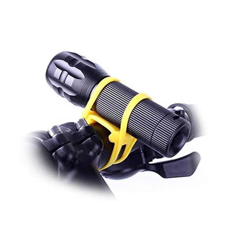 Fahrrad Lenker Silikon Elastische Gürtel Bike Silicon Strap Bandage Taschenlampe Bands Taschenlampe Clip Fahrrad Licht Taschenlampe Halter