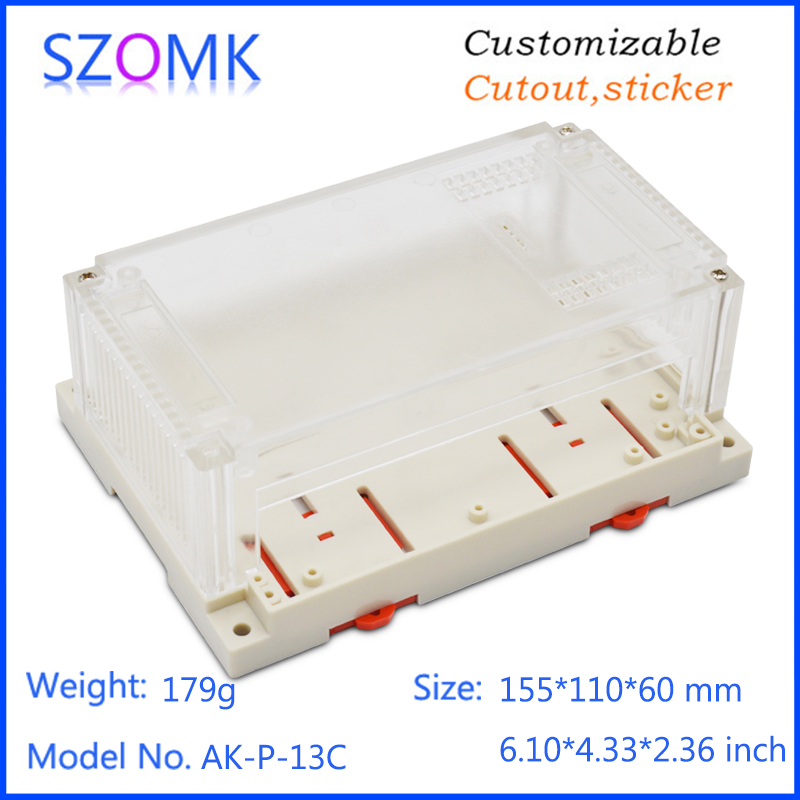 szomk plastic din rail enclosure electronics box PLC instrument plastic housing case plastic junction box (10)