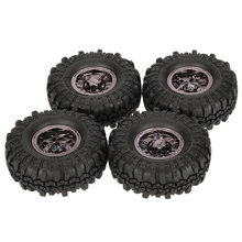 4 pcs AX-4020F 1.9 inch 110mm Rock Crawler Wiel met Effen Beadlock Velg voor 1/10 Traxxas AXIALE RC4WD TF2 RC Auto(China)