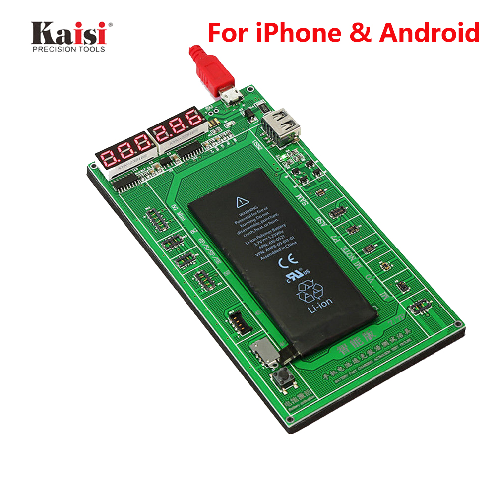 Kaisi-9208 Phone Battery Activation Board Plate Charging USB Cable For iPhone 7 Plus 7 6s 6 5s 5 Samsung xiaomi Circuit Test mymei braided 10 nylon usb data sync charger cable cord fit iphone 6 6s plus 5s 5c 5